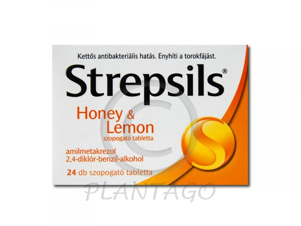 Strepsils Honey and lemon tabletta 24x