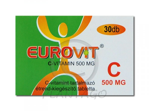 Eurovit C vitamin 500mg tabletta 30x