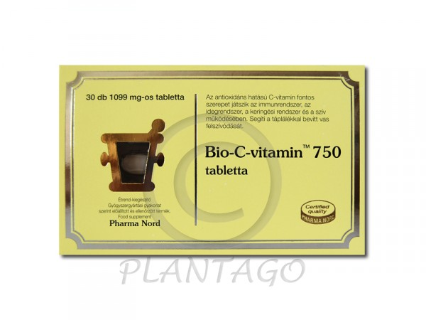 Bio-C-vitamin 750 mg tabletta 30x