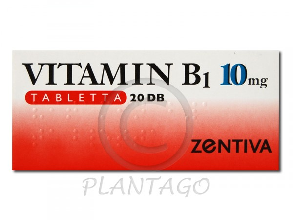 Vitamin B1-Zentiva 10mg tabletta 20x
