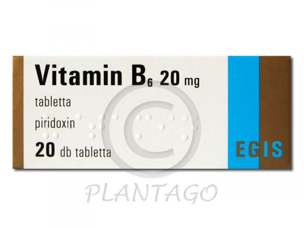 Vitamin B6 20 mg tabletta 20x