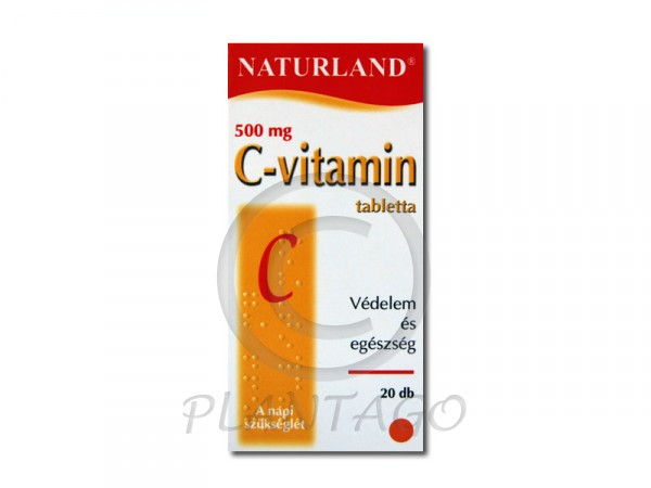 Naturland C vitamin 500mg tabletta 20x
