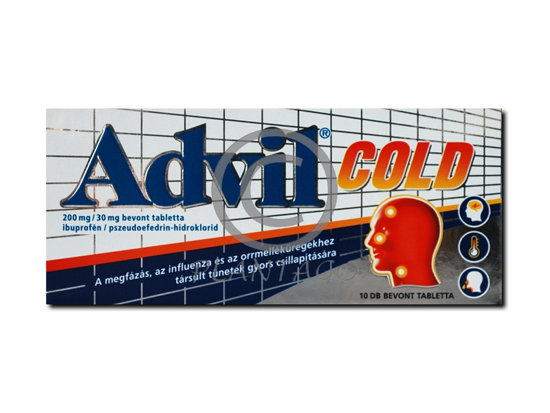 Advil Cold 200mg/30mg bevont tabletta 10x