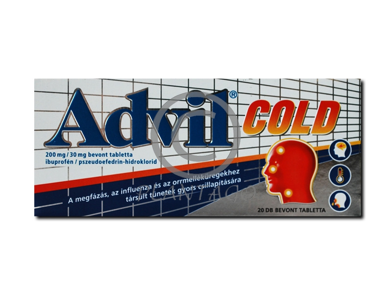 Advil Cold 200mg/30mg bevont tabletta 20x